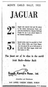 1953 Caveys Monte Carlo Ad