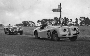 XK120 Frank Bigger Curragh 1952