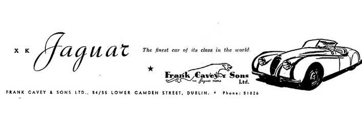 Frank Cavey XK120 Advert 1951